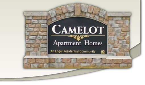 Camelot Apartment Homes Sign Monument Model