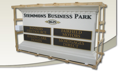 Sign Monument crated for approval